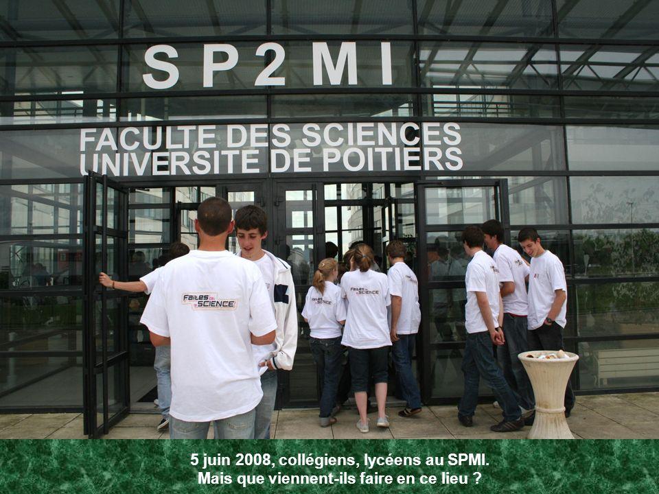 5 juin 2008, collégiens, lycéens au SPMI. Mais que viennent-ils faire en ce lieu ?