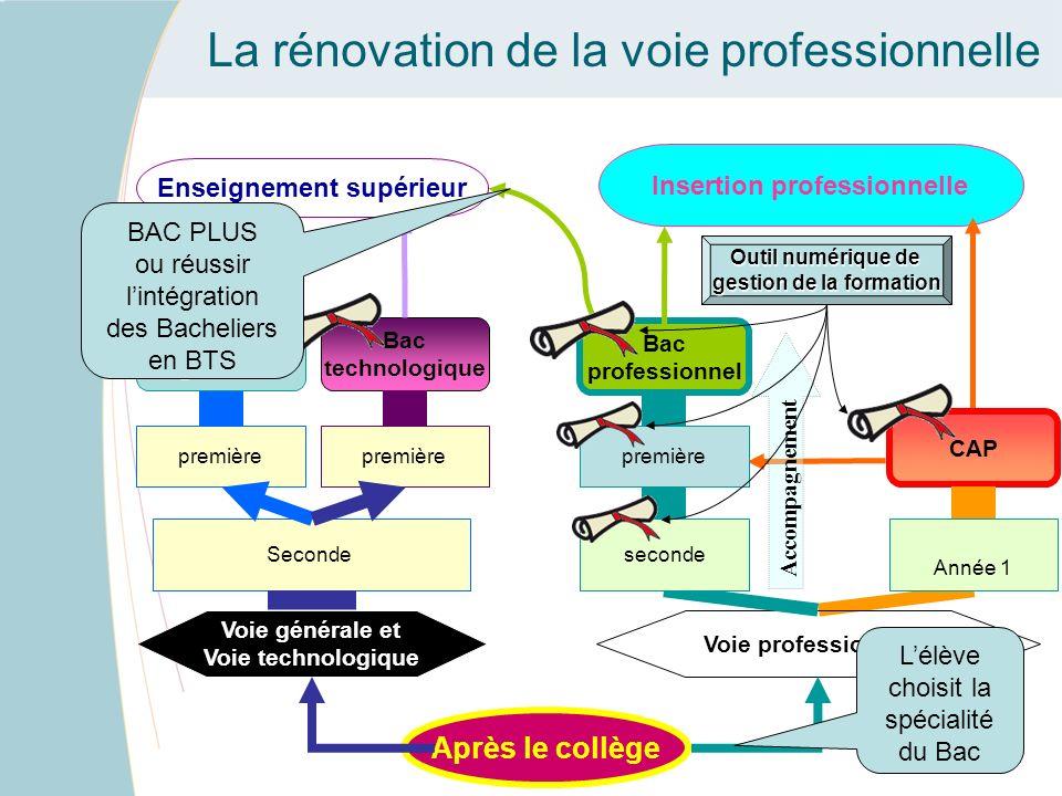 La rénovation de la voie professionnelle Les 3 voies dorientation après la classe de 3 ème prévues à larticle D.