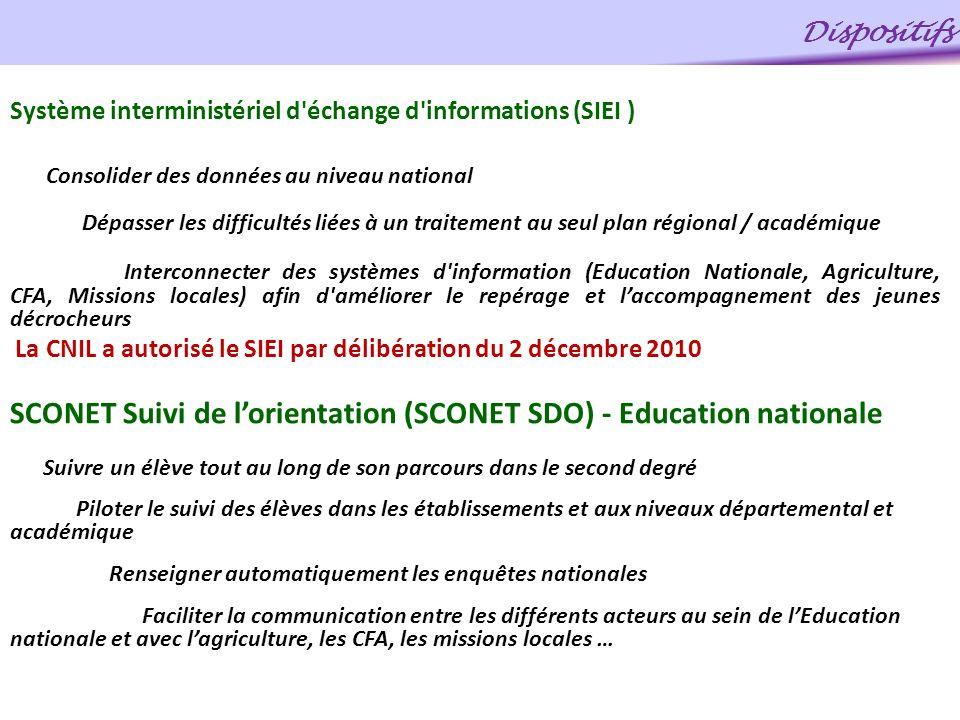 Système interministériel d'échange d'informations (SIEI ) Consolider des données au niveau national Dépasser les difficultés liées à un traitement au