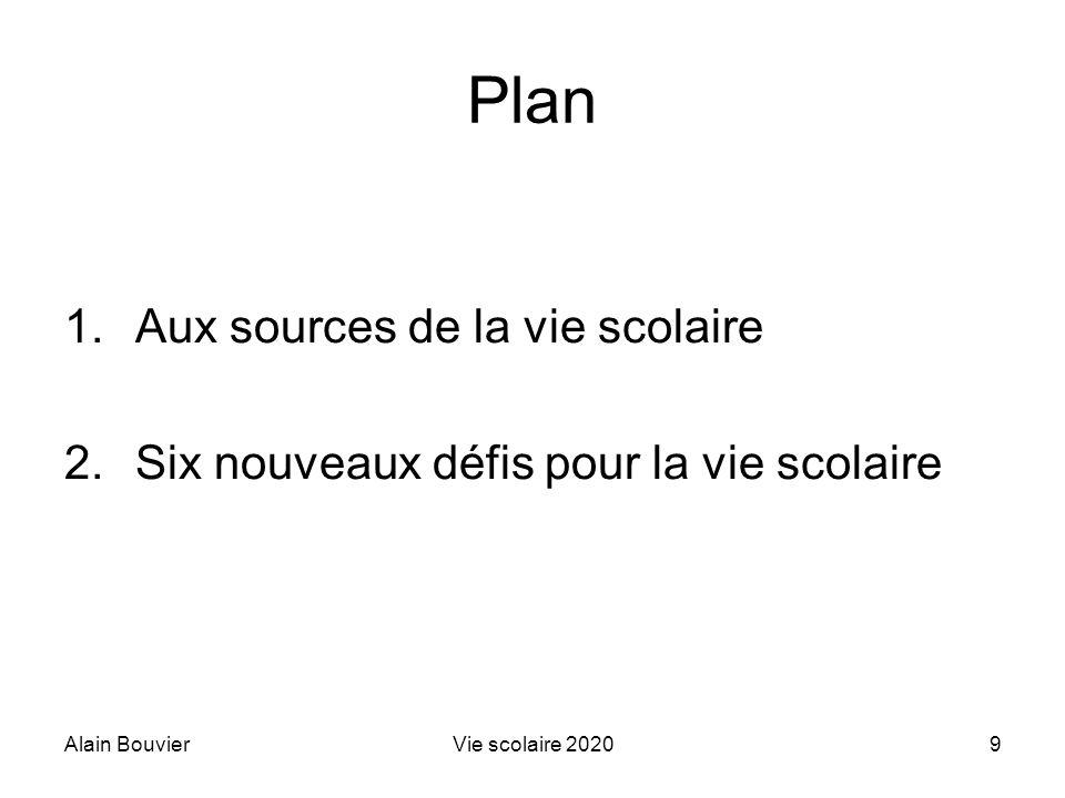 Alain BouvierVie scolaire 202030 Défi 2 Imaginer le PISA de la vie scolaire