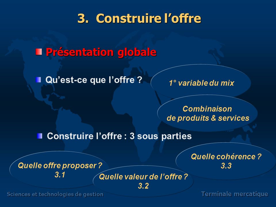 Sciences et technologies de gestion Terminale mercatique 3.