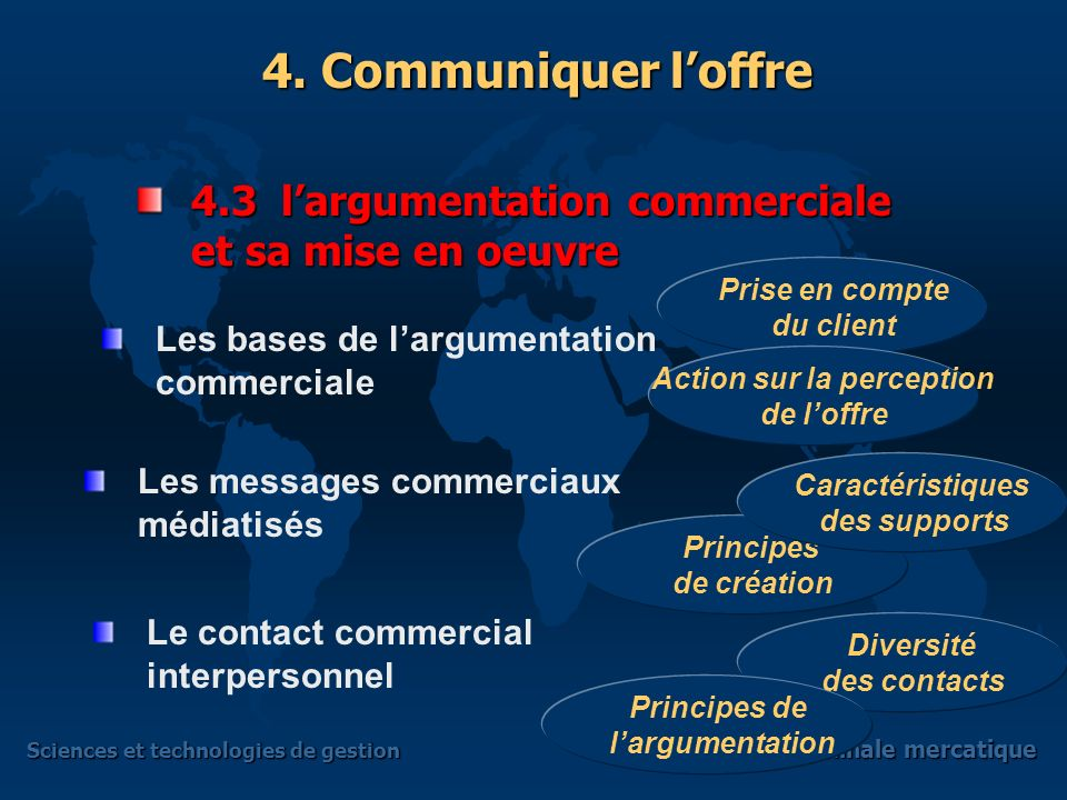 Sciences et technologies de gestion Terminale mercatique 4.2 Les moyens de communication Communication de masse Communication relationnelle 4. Communi
