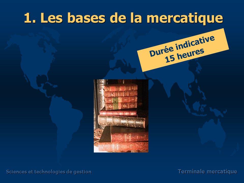 Sciences et technologies de gestion Terminale mercatique 2.4 – Le recueil et lanalyse des informations commerciales Une notion « à préciser » la veille mercatique et commerciale 2.