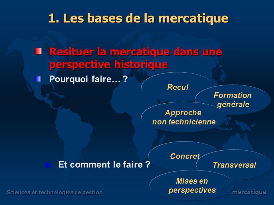 Sciences et technologies de gestion Terminale mercatique Présentation globale Présentation globale Quest-ce que loffre .