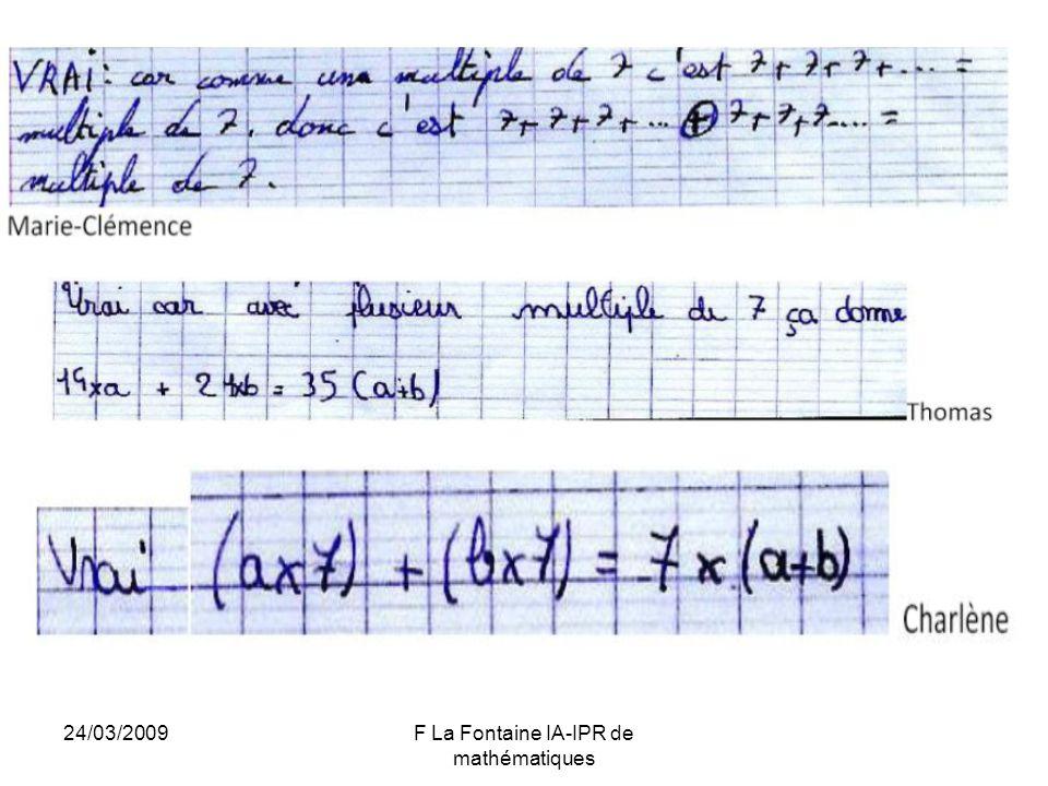 24/03/2009F La Fontaine IA-IPR de mathématiques