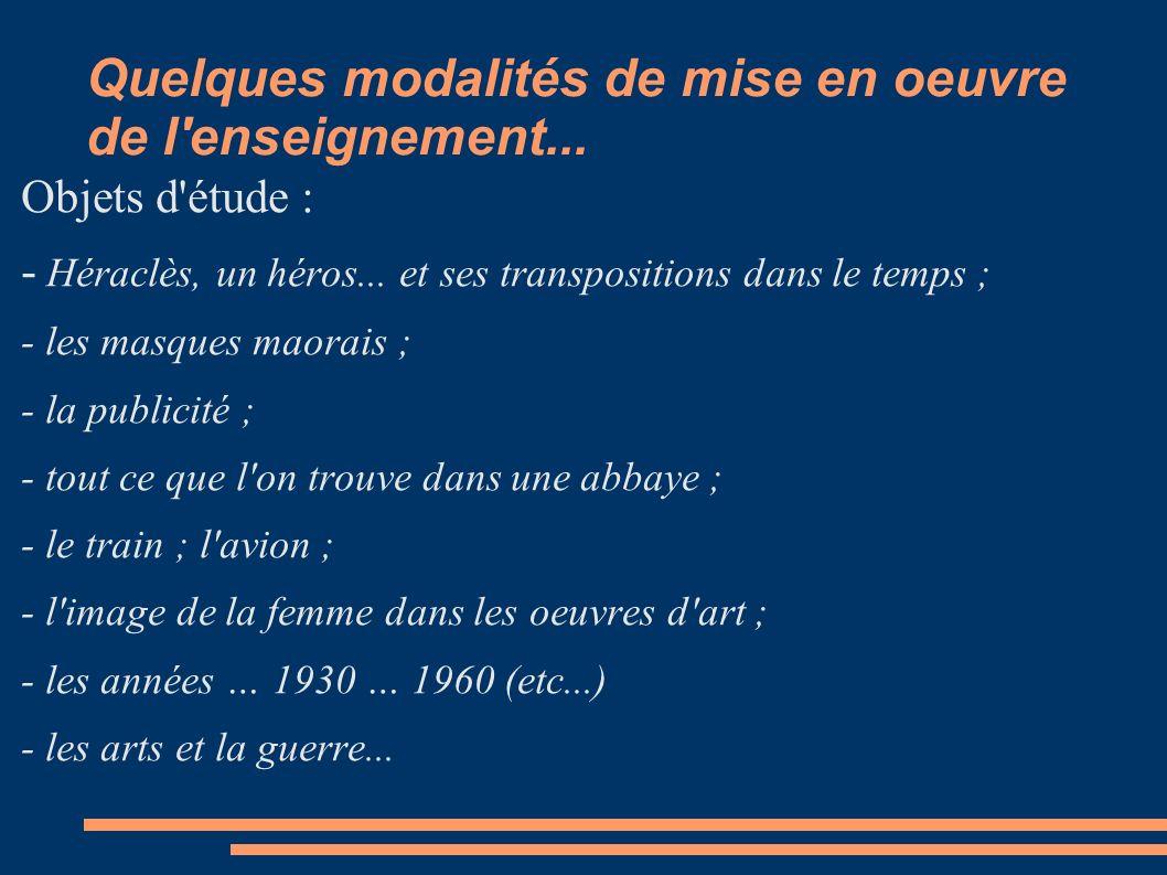 Esquisse typologique des objets d étude Un mouvement artistique...