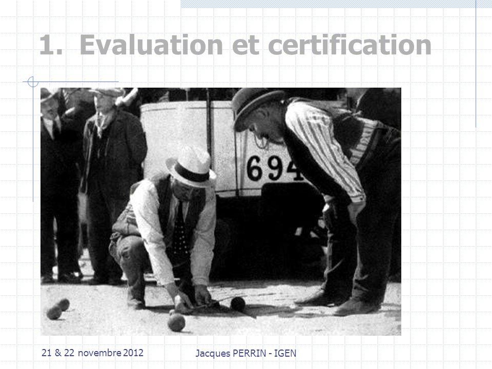 21 & 22 novembre 2012 Jacques PERRIN - IGEN Plan de lintervention 1.