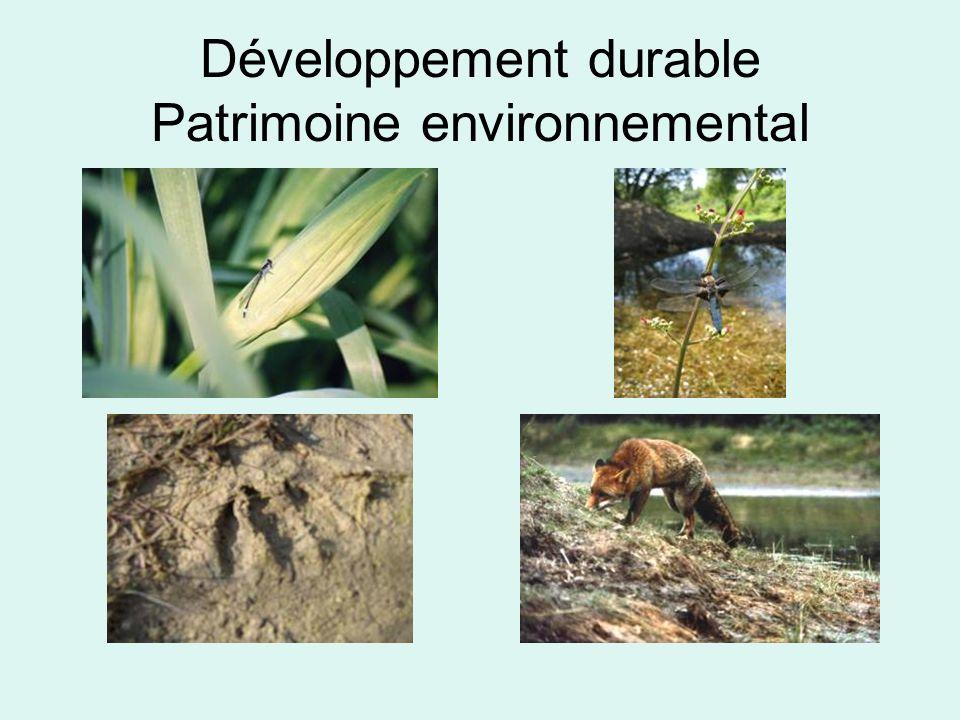 Développement durable Patrimoine environnemental