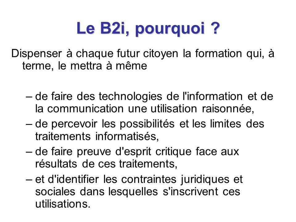 Le B2i, comment .
