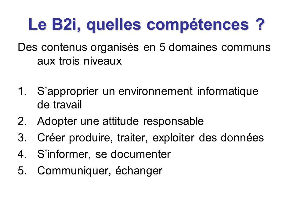 Le B2i, comment valider les compétences .