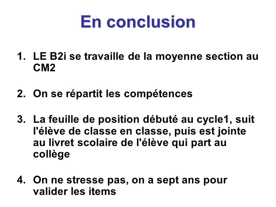 Le projet informatique de la classe 1.Le B2i n est que l évaluation de pratiques informatiques d une classe, donc avant de parler du B2i, on doit imaginer la pratique….