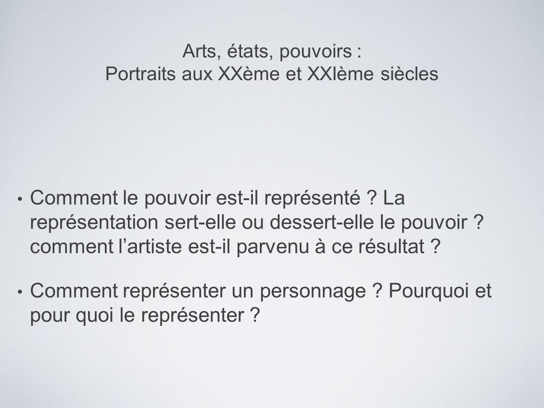 Analyse formelle de l image Définitions et interprétation Interprétation du portrait analysé Peut-on dire sil y a continuité ou rupture avec le genre traditionnel du portrait officiel .