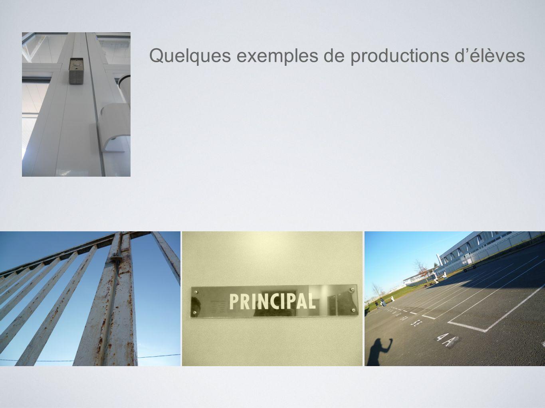 Quelques exemples de productions délèves