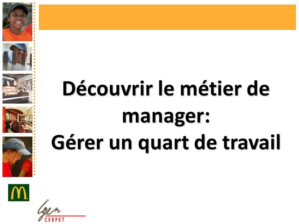 Découvrir le métier de manager: Gérer un quart de travail