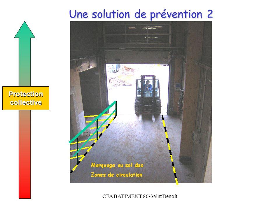 CFA BATIMENT 86-Saint Benoît Une solution de prévention 2 Protectioncollective