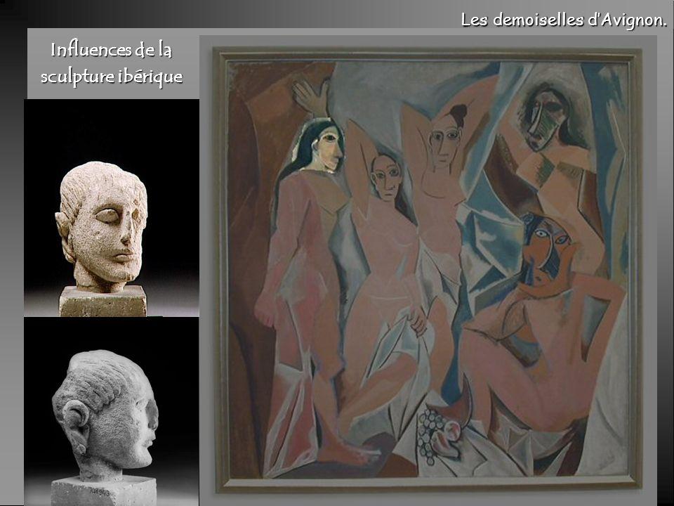 Influences de la sculpture ibérique Les demoiselles dAvignon.