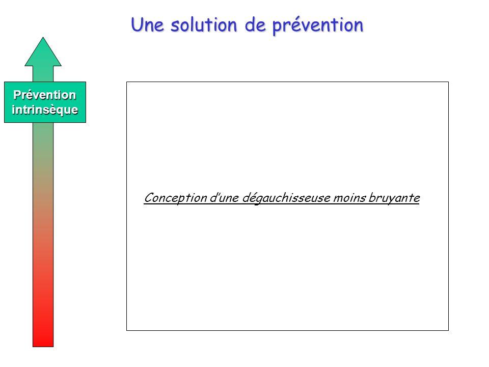 Une solution de prévention Préventionintrinsèque Conception dune dégauchisseuse moins bruyante