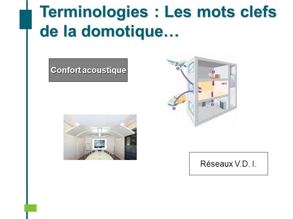 Confort acoustique Terminologies : Les mots clefs de la domotique… Réseaux V.D. I.