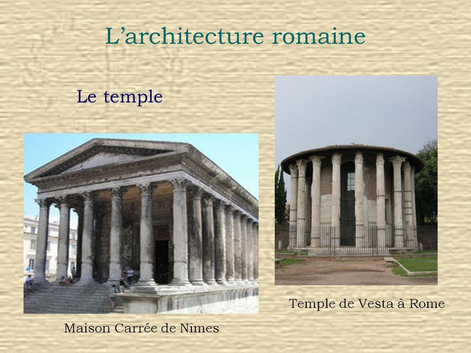 Larchitecture romaine Le temple Maison Carrée de Nîmes Temple de Vesta à Rome