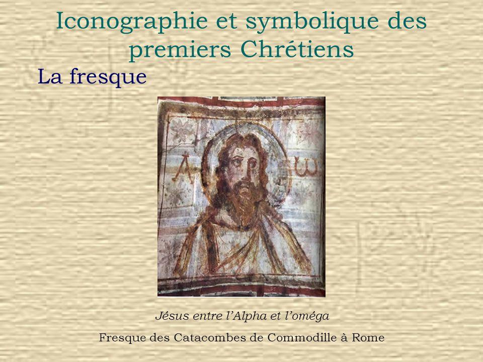 Iconographie et symbolique des premiers Chrétiens Symboles figurant dans les catacombes de San Callisto Via Appia, Rome