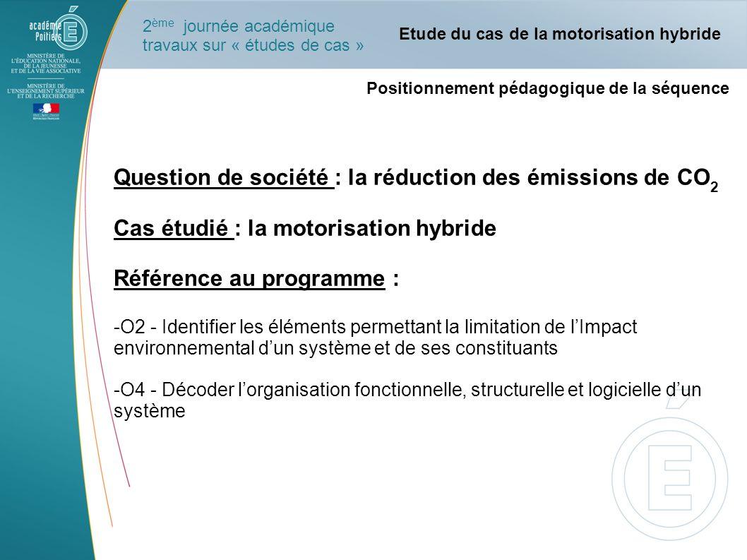 Organisation pédagogique de la séquence Durée : 1 séquence se déroule sur une semaine Le problème posé : sur quels éléments peut-on agir pour diminuer lémission de CO 2 des automobiles .