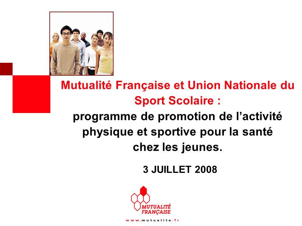 Mutualité Française et Union Nationale du Sport Scolaire : programme de promotion de lactivité physique et sportive pour la santé chez les jeunes.
