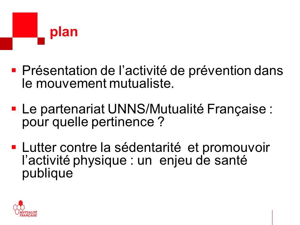 Présentation de lactivité de prévention dans le mouvement mutualiste. Le partenariat UNNS/Mutualité Française : pour quelle pertinence ? Lutter contre