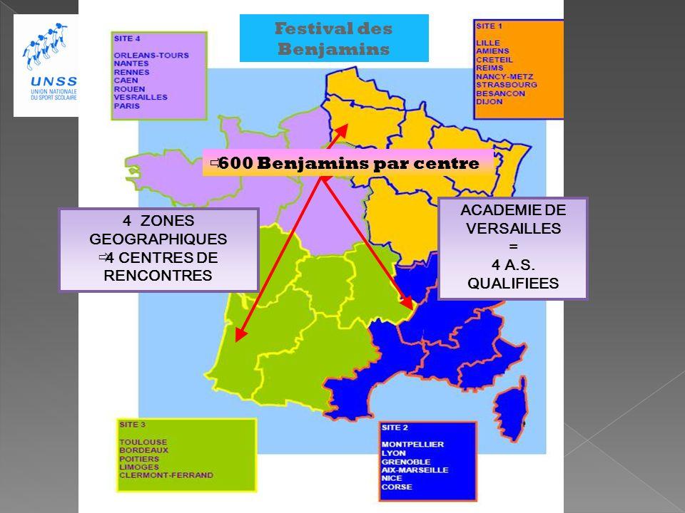 Festival des Benjamins ACADEMIE DE VERSAILLES = 4 A.S.