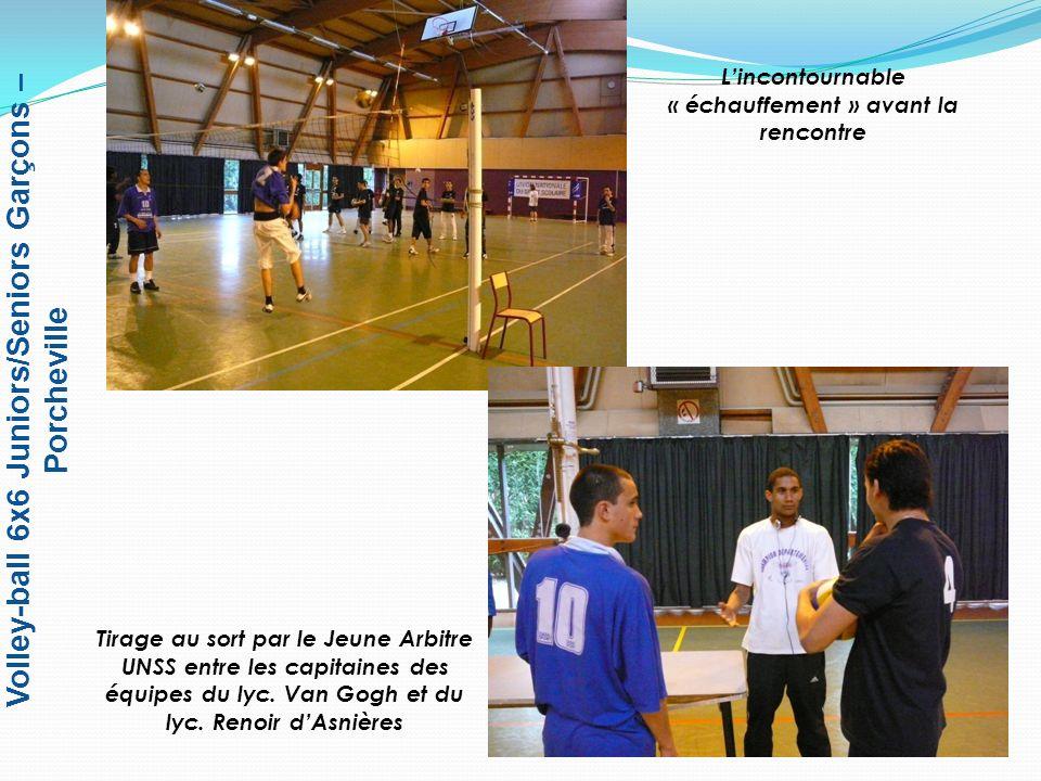 Volley-ball 6x6 Juniors/Seniors Garçons – Porcheville Concentration et attention sont indispensables pour prendre les bonnes décisions !!.