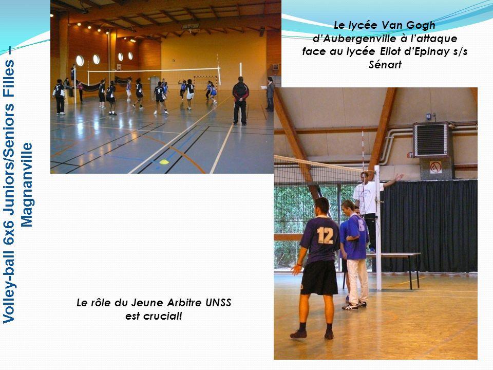 Volley-ball 6x6 Juniors/Seniors Filles – Magnanville 1 er – Lycée Maurice Eliot – EPINAY SOUS SENART 2 e – Lycée Van Gogh - AUBERGENVILLE