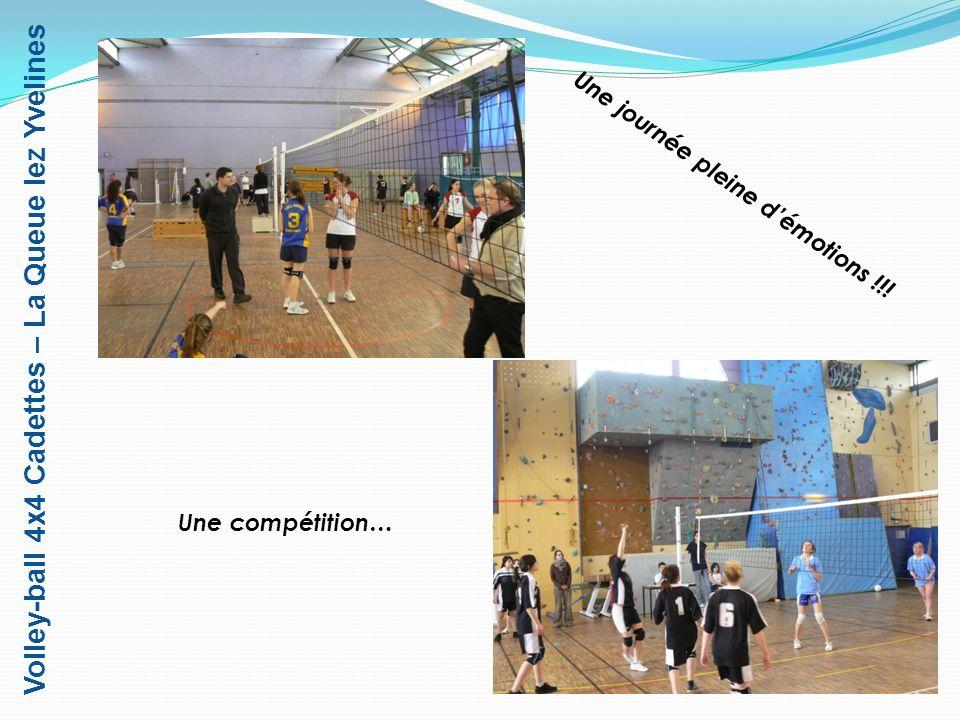 Volley-ball 4x4 Cadettes – La Queue lez Yvelines … dense, âpre … … et disputée !!! Lépilogue??...