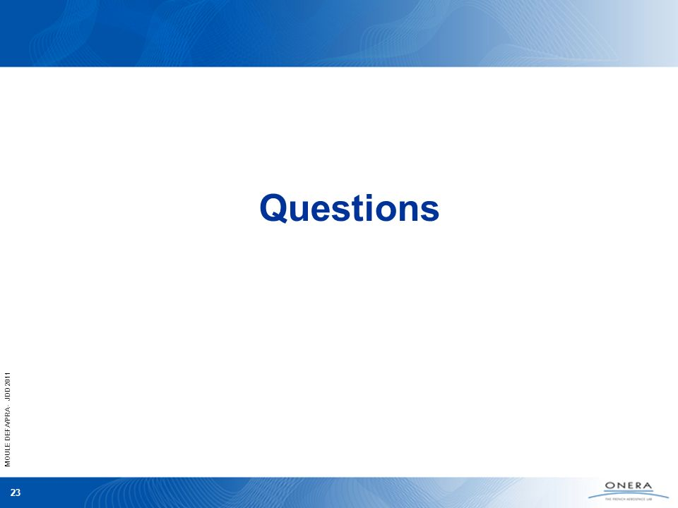 MOULE DEFA/PRA - JDD 2011 23 Questions