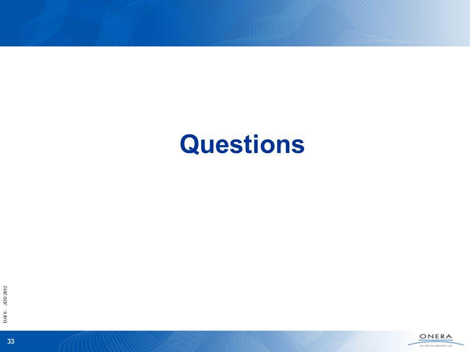 DAFE - JDD 2012 33 Questions