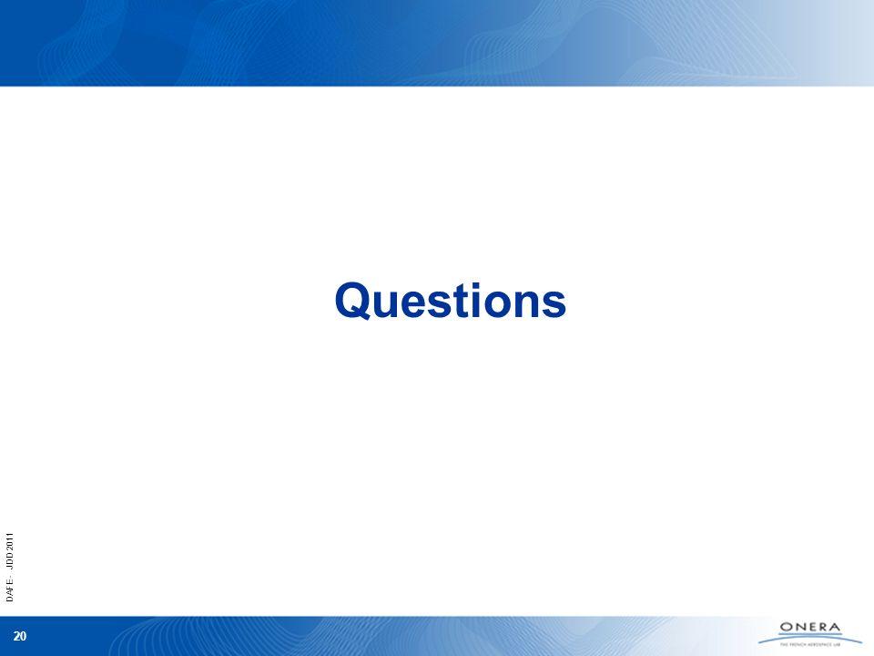 DAFE - JDD 2011 20 Questions