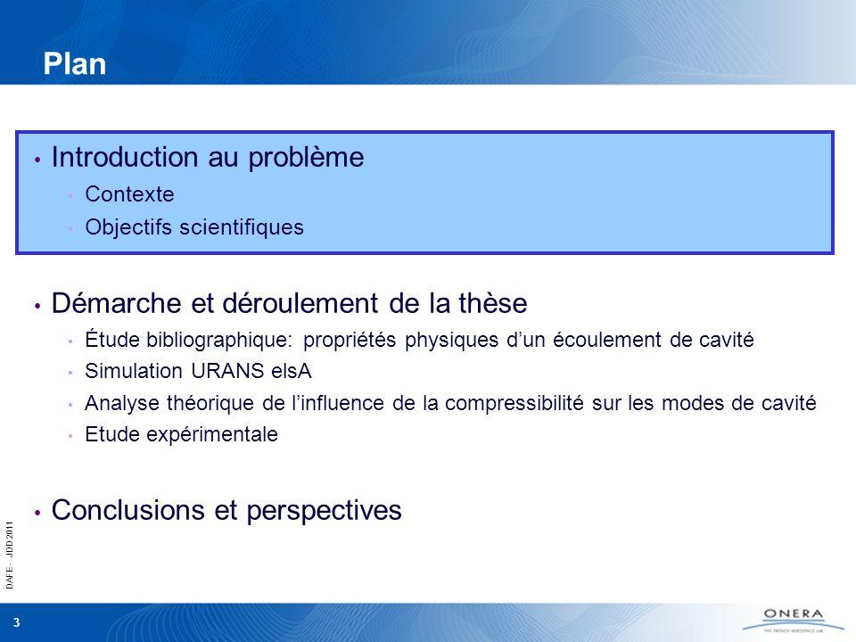 DAFE - JDD 2011 3 Plan Introduction au problème Contexte Objectifs scientifiques Démarche et déroulement de la thèse Étude bibliographique: propriétés