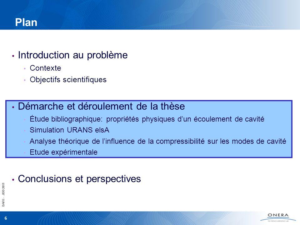 DAFE - JDD 2011 6 Plan Introduction au problème Contexte Objectifs scientifiques Démarche et déroulement de la thèse Étude bibliographique: propriétés