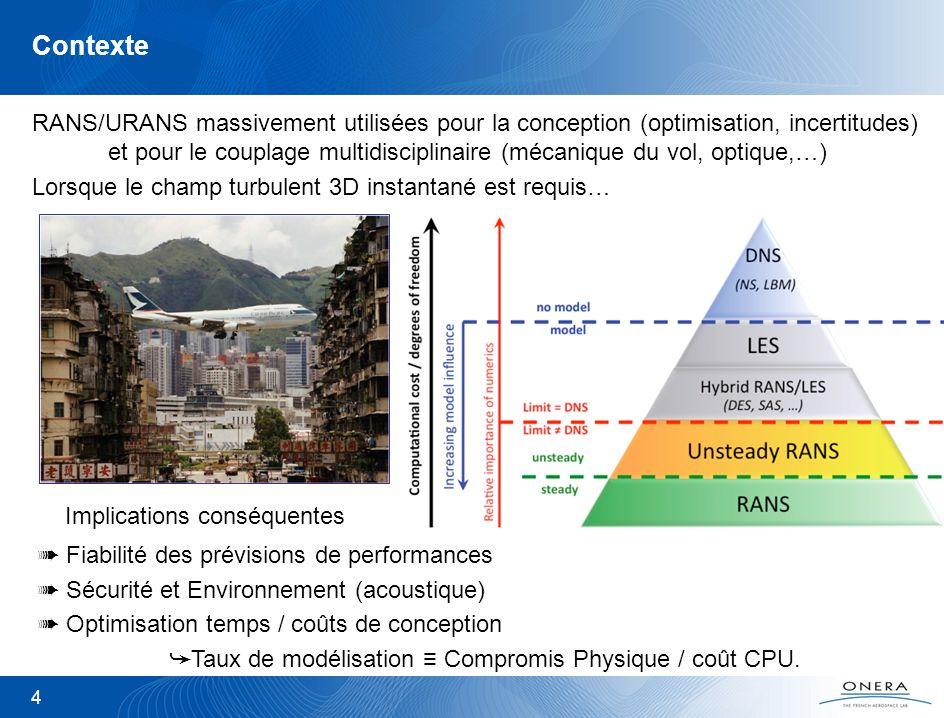 4 Contexte RANS/URANS massivement utilisées pour la conception (optimisation, incertitudes) et pour le couplage multidisciplinaire (mécanique du vol,