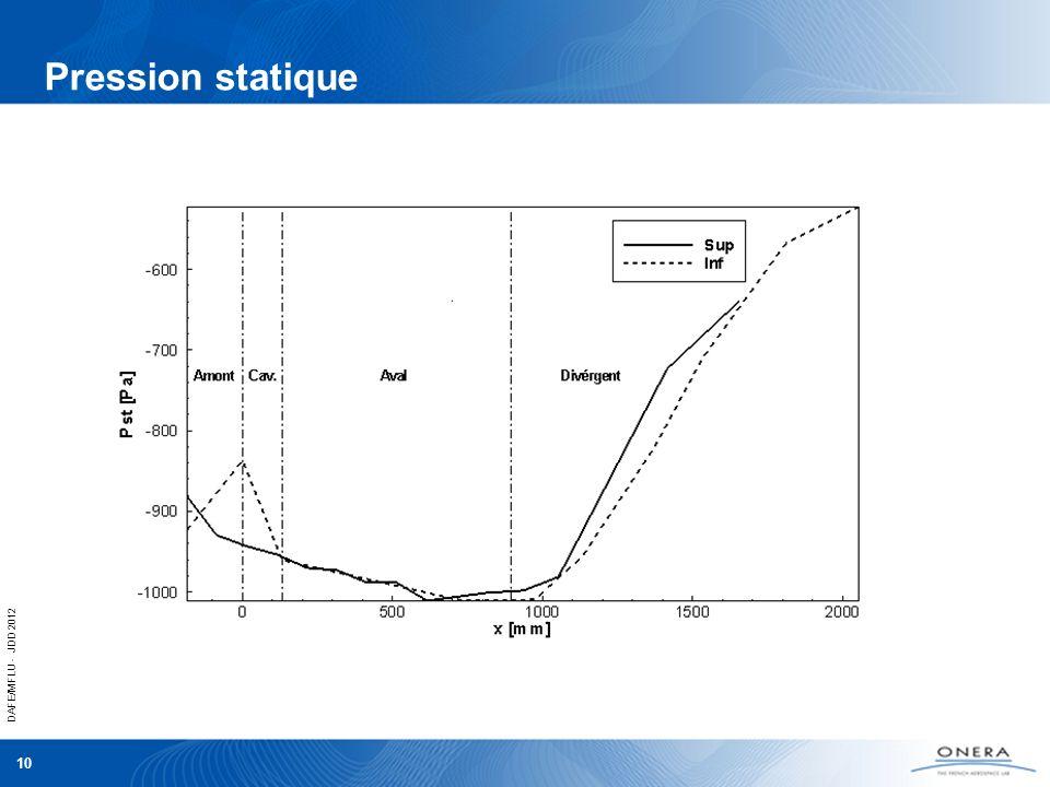 DAFE/MFLU - JDD 2012 10 Pression statique