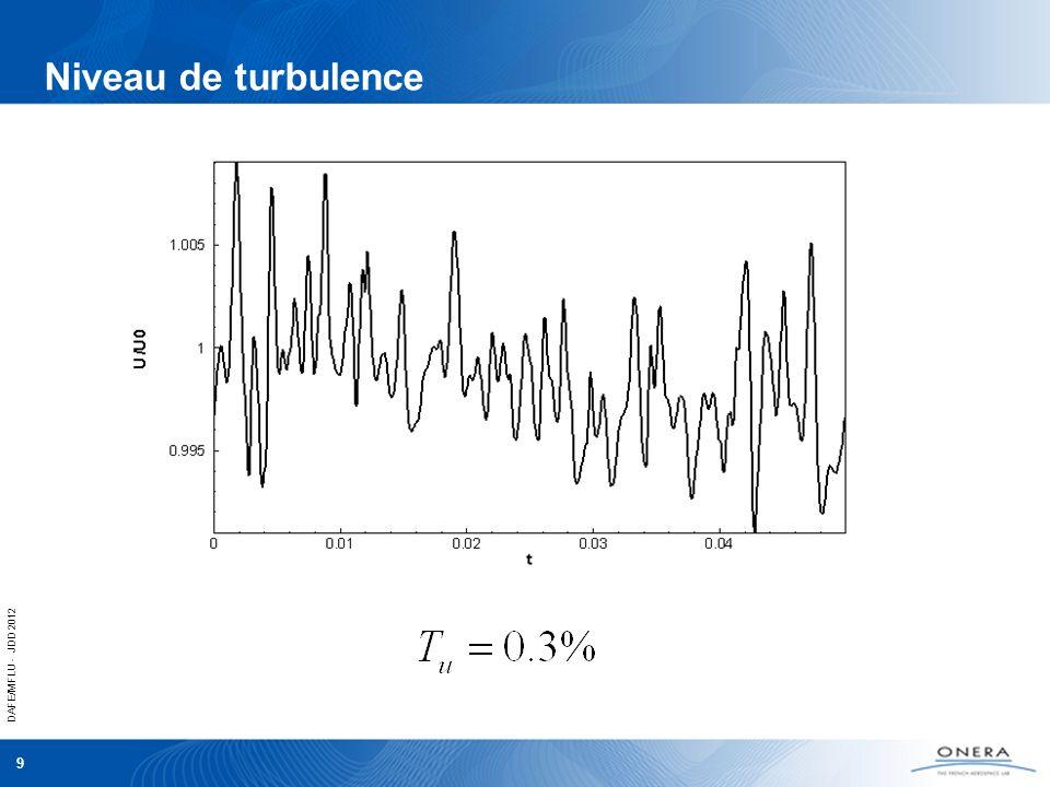 DAFE/MFLU - JDD 2012 9 Niveau de turbulence