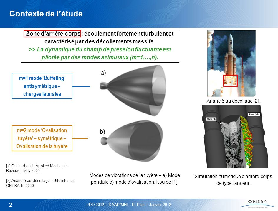 JDD 2012 – DAAP/MHL - R. Pain – Janvier 2012 2 Contexte de létude Ariane 5 au décollage [2]. [1] Östlund et al, Applied Mechanics Reviews, May 2005. [