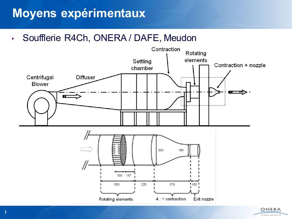 7 Moyens expérimentaux Soufflerie R4Ch, ONERA / DAFE, Meudon