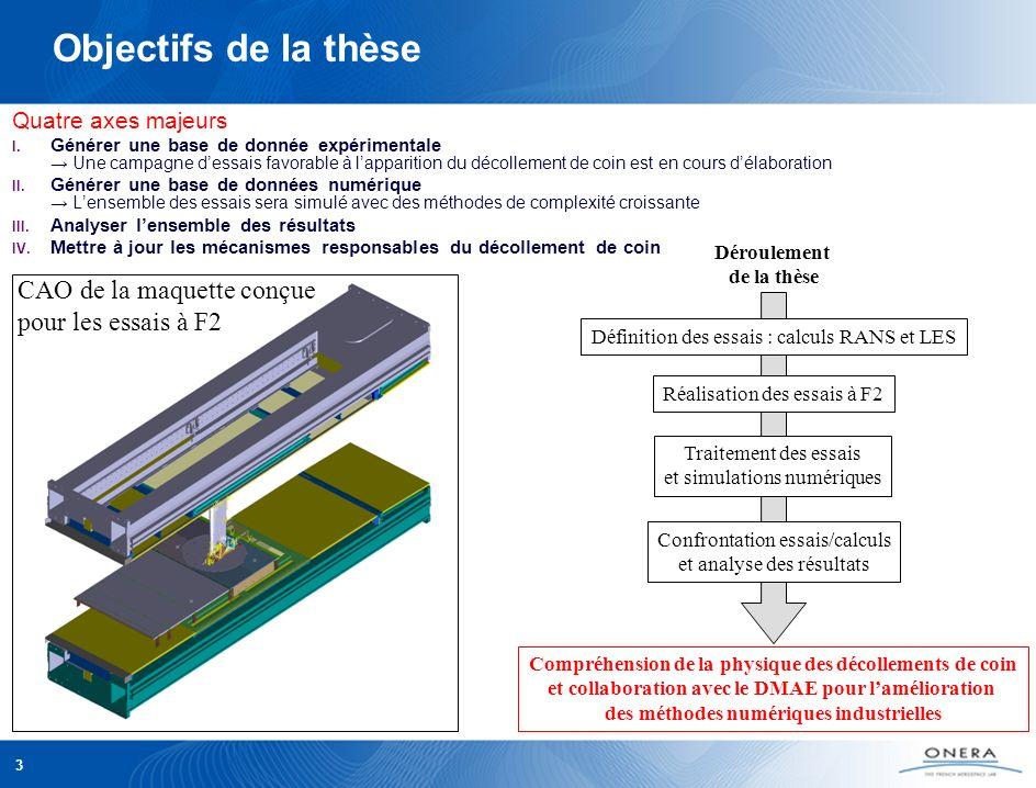 PAMART DAAP – JDD ONERA 2009 3 Objectifs de la thèse Quatre axes majeurs I. Générer une base de donnée expérimentale Une campagne dessais favorable à
