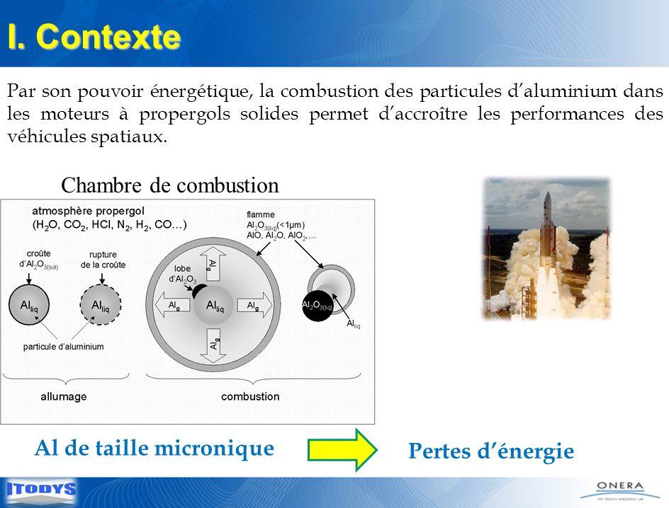 4 Diminution de la taille des particules daluminium en dessous de 100 nm Amélioration des performances énergétiques Les NPs dAl augmentent la force de détonation I.