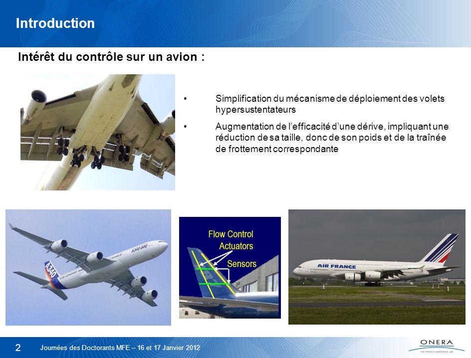 2 Introduction Simplification du mécanisme de déploiement des volets hypersustentateurs Augmentation de lefficacité dune dérive, impliquant une réduct