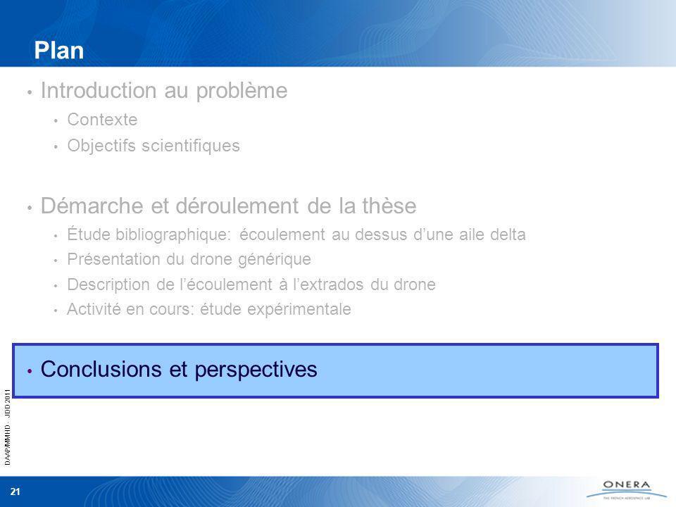 DAAP/MMHD - JDD 2011 21 Plan Introduction au problème Contexte Objectifs scientifiques Démarche et déroulement de la thèse Étude bibliographique: écou