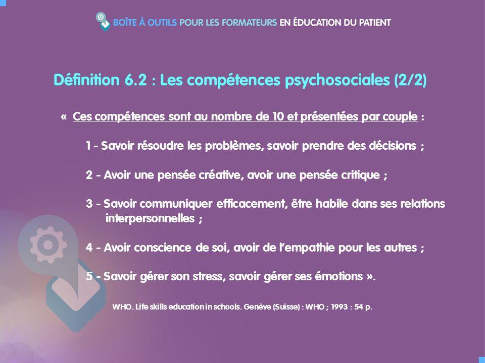 « Ces compétences sont au nombre de 10 et présentées par couple : 1 - Savoir résoudre les problèmes, savoir prendre des décisions ; 2 - Avoir une pens