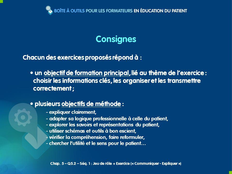 Chacun des exercices proposés répond à : un objectif de formation principal, lié au thème de lexercice : choisir les informations clés, les organiser