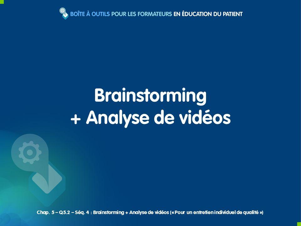 Brainstorming + Analyse de vidéos Chap. 5 – Q5.2 – Séq. 4 : Brainstorming + Analyse de vidéos (« Pour un entretien individuel de qualité »)