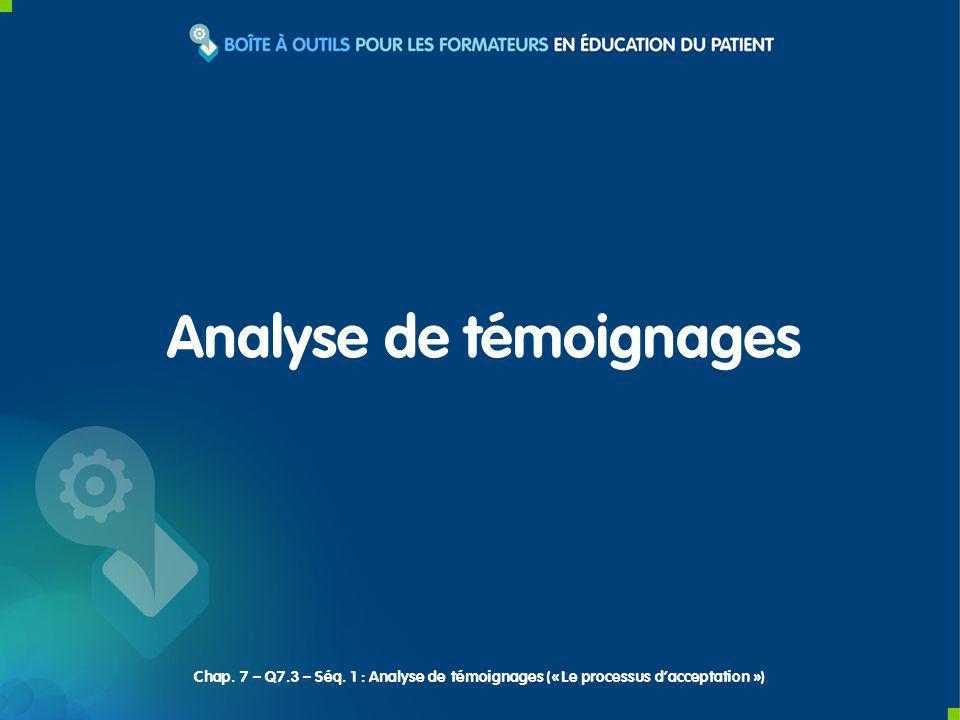 Analyse de témoignages Chap. 7 – Q7.3 – Séq.