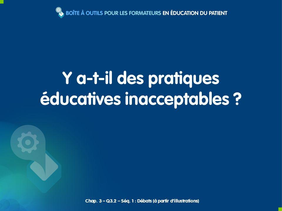 Se questionner sur léthique des interventions éducatives.